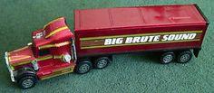 Vintage 1983 Buddy L Kenworth Big Brute Sound Electronic Steel Truck and Trailer