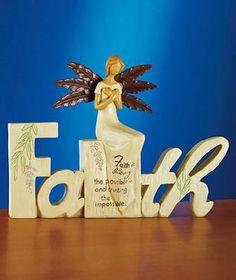 Sentiment Angel Figurines FAITH