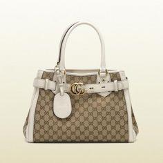 Gucci 247183 Fw9lt 9761 Gucc Gg Running'Medium Tote mit GG-Detail Gucci Damen Handtaschen