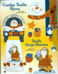 Toallas navide as para navidad pinterest for Cuelga toallas bano