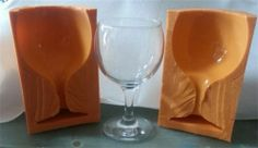3D WINE GLASS TWO PIECE SILICONE MOULD FOR CAKE TOPPERS, CHOCOLATE, ETC | eBay
