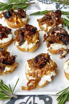 This intensely flavorful Fig and Goat Cheese appetizer recipe is easy, can be made a day ahead, and is always a hit of the party. #GoatCheeseRecipe #PartyAppetizer #HolidayAppetizer #NewYearsEve #AppetizerRecipe Goat Cheese Recipes, Cheese Appetizers, Appetizers For Party, Appetizer Recipes, Vegan Appetizers, Fig Recipes, Cheese Food, Cheese Plates, Delicious Recipes