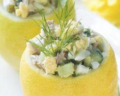 Recette de Citrons farcis au thon, courgette et fromage blanc 0%