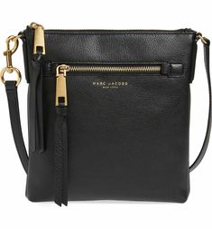 Main Image - MARC JACOBS Recruit North/South Leather Crossbody Bag