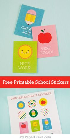 Free Printable School Stickers. Back to School tags by Paper Crave. LivingLocurto.com