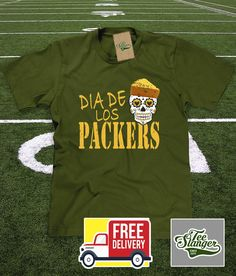Day of the Dead Green Bay Packers T-shirt – Teeslanger Green Bay Packers 225595a5f