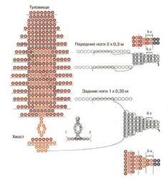 Схема плетения оленя из бисера