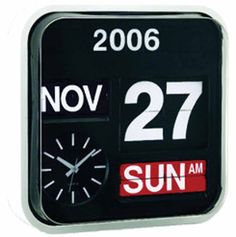 Amazon.com : Wall Hanging Flip Clock with Large Numbers : Time Clocks : Electronics