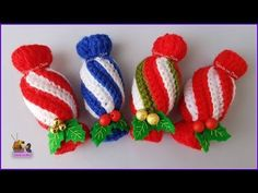 Tutorial amigurumi - Caramelo navideño - YouTube