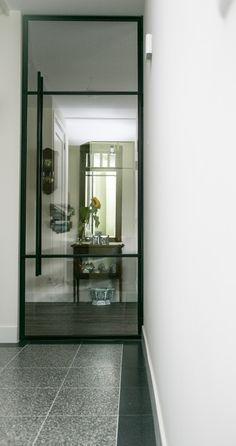 & & Alles is op maat gemaakt , Kitchen Doors, Steel Frame Doors, Barn Door Designs, Hallway Flooring, Doors Interior, Exterior Doors, Doors And Floors, Home Design Decor, Hallway Designs