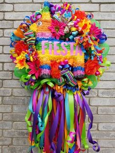 Mexican Fiesta Party, Fiesta Theme Party, Mexican Christmas, Christmas Tree, Mexican Party Decorations, Wire Wreath Frame, Quinceanera Themes, Holiday Wreaths, Mesh Wreaths