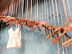 wooden hanger display idea