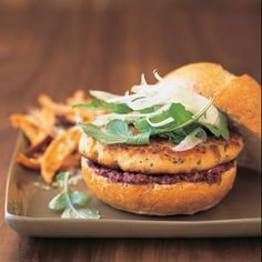 Salmon Burgers with Shaved Fennel and Olive Tapenade | Williams-Sonoma