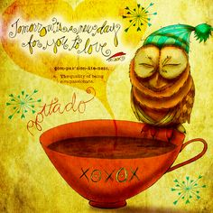 """#Tuesdaymotivation """"Tomorrow is a new day for YOU to love."""" - J.R. Cook. What my #Coffee says to me January 6 - drink YOUR life in - there are so many days to LOVE, 359 to be exact! Are you in a loving mood? #GOTTADO fundraiser continues till I raise $2,000.00 for each organization. Details here: http://www.catsinthebag.com/What%20my%20coffee%20says.html #mentalhealth #financialliteracy for kids!  (What my Coffee says to me is a daily, illustrated series created by Jennifer R. Cook)"""