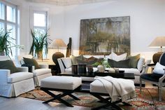 Haus Design: Slettvoll: Ralph Lauren With A European Twist Living Room Interior, Home Living Room, Home Interior Design, Living Room Designs, Living Room Decor, Living Spaces, Transitional Living Rooms, Living Room Inspiration, Family Room