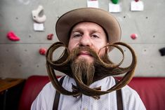 The men were competing for categories in three groups: moustache, partial beard and full beard