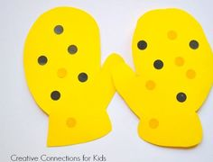 Dotted Mittens Winter Craftivity - pinned by @PediaStaff – Please Visit ht.ly/63sNtfor all our pediatric therapy pins