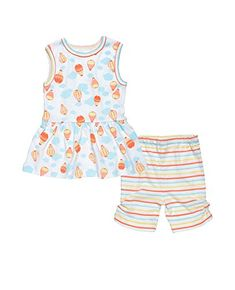 3-6 months Under The Nile 2-Piece Layette Set Animal Print