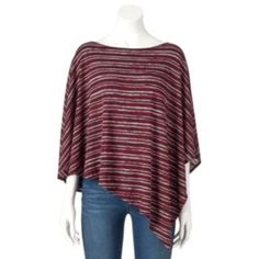 Women's Double Click Asymmetrical Striped Top - size XL