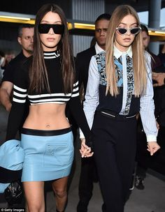 Sister sister: Siblings Bella and Gigi Hadid also wowed on the catwalk earlier in the day ...