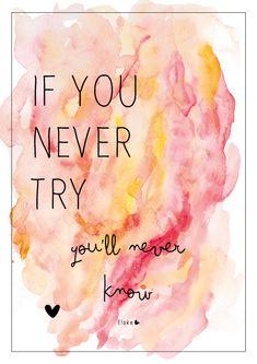 If you never try | Elske | www.elskeleenstra.nl