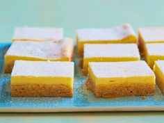 Lemon Cream Squares Ingredients 1 (18.25 ounces) box lemon cake mix (recommended: Betty Crocker) 1 stick butter, softened 1 egg 16 ounces cream cheese (recommended: Philadelphia) softened 1/3 cup sugar 1 (3-ounce) box lemon or lime gelatin (recommended: Jell-O) 2 eggs