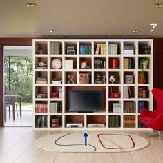 スクエアオープン仕様 ディスプレイ壁面収納 テレビ台・幅116cm 【本棚 書棚 書斎 飾り棚】