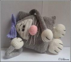 #haken, gratis patroon, Nederlands, Sil's Corner: Patroon Lucy de poes, amigurumi, knuffel, speelgoed, haakpatroon