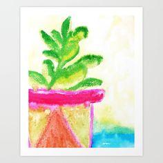 Potted Plant Art Print - $16