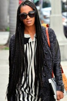 Solange's braids are too cute!