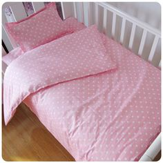 Baby Bedding Sets Cotton Custom Made AB Face Printed Cartoon Cot Baby Bed  Sheet Quilt Cover No Stimulation Bedding 9344d90db