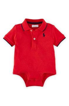 Ralph Lauren Polo Bodysuit (Baby Boys)