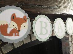 Bosques Banner•Woodland Party•Woodland Shower•Forest Friends•Gender bebé Neutral Shower•First Birthday•Camp Banner•Woodland zorro bebé