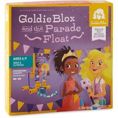 GoldieBlox and the Parade Float Game | CALENDARS.COM - $19.99 | This is the story of Goldie, her friend Ruby, and a princess pageant with a twist. Build Along- Help Goldie and Ruby build a float for the princess parade. Roll!- You did it! Take your machine for a spin and try the other designs.