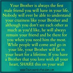 Your Brother is AMAZING. We all know this