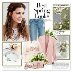 """Spring is when life's alive in everything!!"" by lilly-2711 ❤ liked on Polyvore featuring H&M, Lux-Art Silks, 7 For All Mankind, Miss Selfridge and RED Valentino"