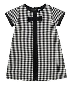 Florence Eiseman Girls Black Check Dress - Velvet Bow