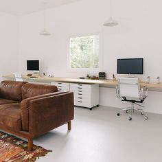 The Fresh Exchange Office Office Decor, Home Office, Office Ideas, Garage Office, Office Inspo, Desk Inspiration, Home Ownership, Easy Home Decor, Guest Bedrooms