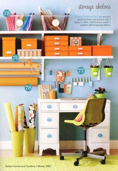BHG desk organizing