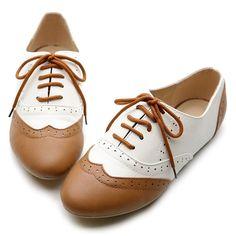 Amazon.com: Ollio Women's Shoe Classics Lace Up Dress Low Flat Heel Multi Color Oxford: Saddle Shoes: Shoes $16.99