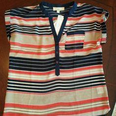 Stitch Fix Navy Striped Shirt. Love. Is it cute on?  Get your own personal stylist @ StitchFix  https://stitchfix.com/referral/3503147