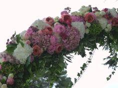 Floral arch detail