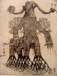 Exquisite Corpse - Jake and Dinos Chapman (ram head with roots / art illustration )