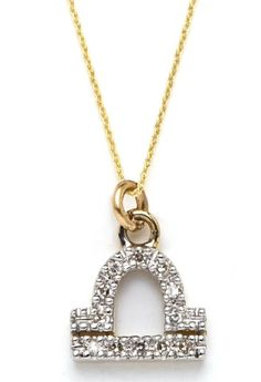 Mini Libra Diamond Necklace
