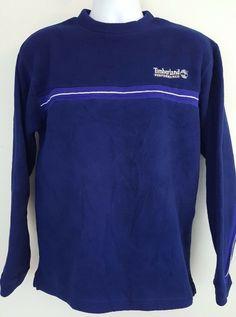 e6e08a45547a Timberland Performance Polartec Long Sleeve Pullover Fleece Shirt Blue Mens  S  Timberland  Crewneck Selling