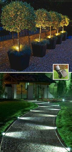 24 Low Cost Ways To Power Up Your Homes Curb Appeal. Backyard LightingDeck  LightingLandscape ...
