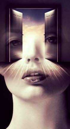 Open your mind... double exposure portrait by T.Amrein #DoubleExposure, @TaniaAmrein