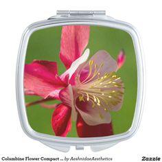 Columbine Flower Compact Mirror