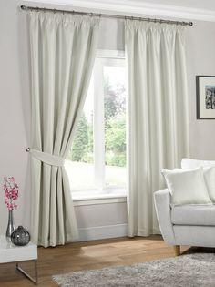 Neva Ready Made Blackout Curtains - Cream