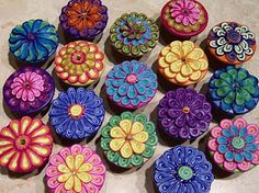 Polymer Clay Cabinet Knobs - a knobby tutorial by Carmen Rose.
